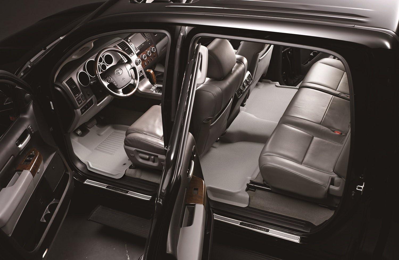 3D MAXpider Complete Set Custom Fit All-Weather Floor Mat for Select Subaru Impreza//Crosstrek Models Kagu Rubber Gray
