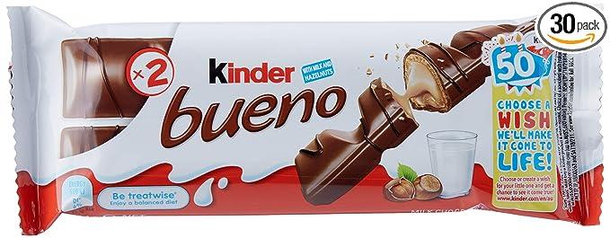 Ferrero Kinder Bueno Bars 30count Brown