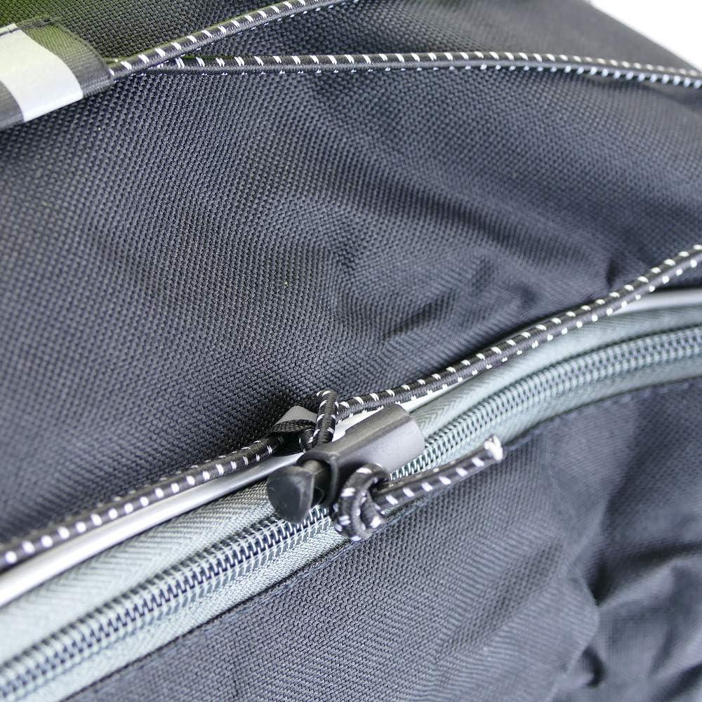 Black sailcloth saddlebags for bicycle PrimeMatik