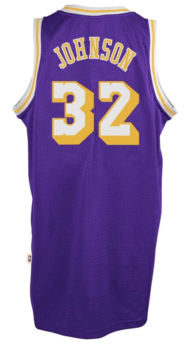: Earvin Johnson Los Angeles Lakers Purple