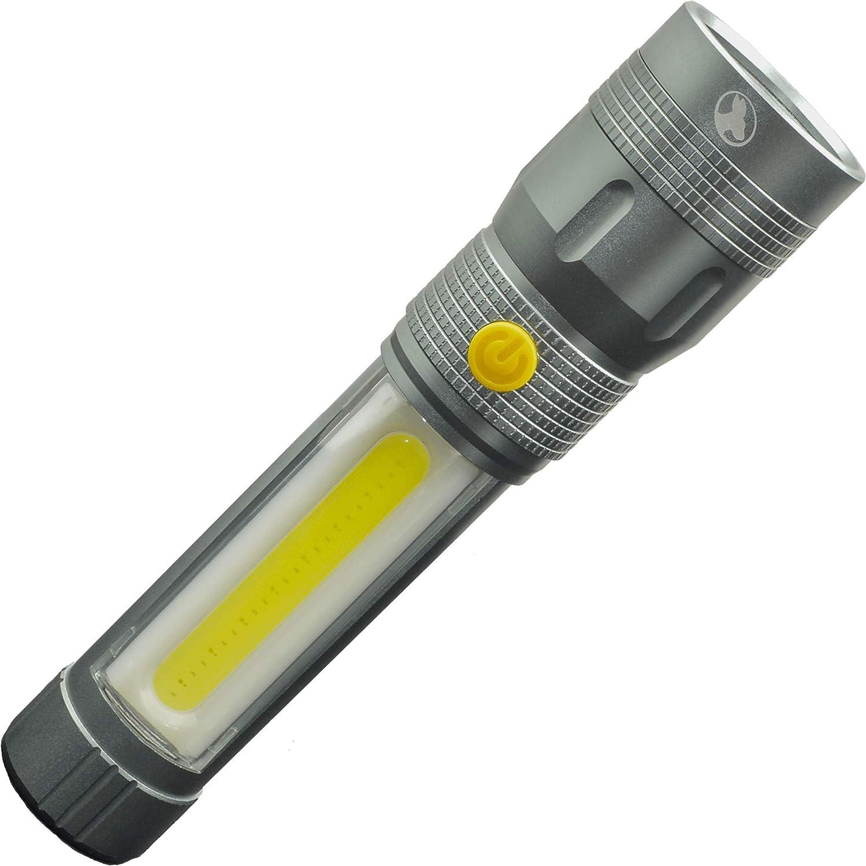 Outback Joey+ Utility Hands Free Flashlight 300 Lumen Main light 250 COB LED Side Light Includes 4 AA Alkaline Batteries (Gunmetal)