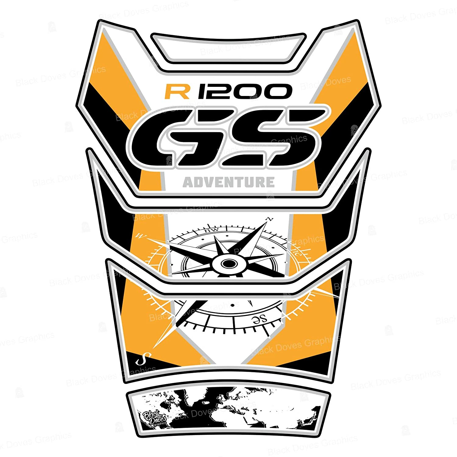 Protection de r/éservoir Compatible pour R1200 GS Adventure 2006-2013 Tank Pad R 1200 ADV 002-4