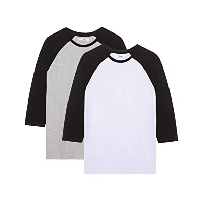 Brand - find. Men's Lightweight Raglan T-shirt, Pack of 2: Clothing