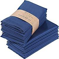Ruvanti Servilletas de algodón Paquete de 12, servilletas de Tela Suaves y cómodas, servilletas de Lino de Calidad de Hotel de Lujo, servilletas de Mesa perfectas para cenas Familiares, Bodas