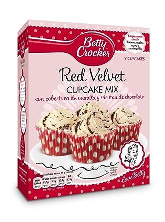 Betty Crocker - Red Velvet Cupcake Mix - Preparado en polvo para elaborar magdalenas, 277