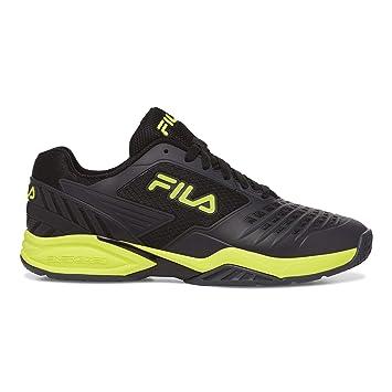 Fila Mens Axilus 2 Energized Tennis Shoe (Black/Ebony/Safety ...