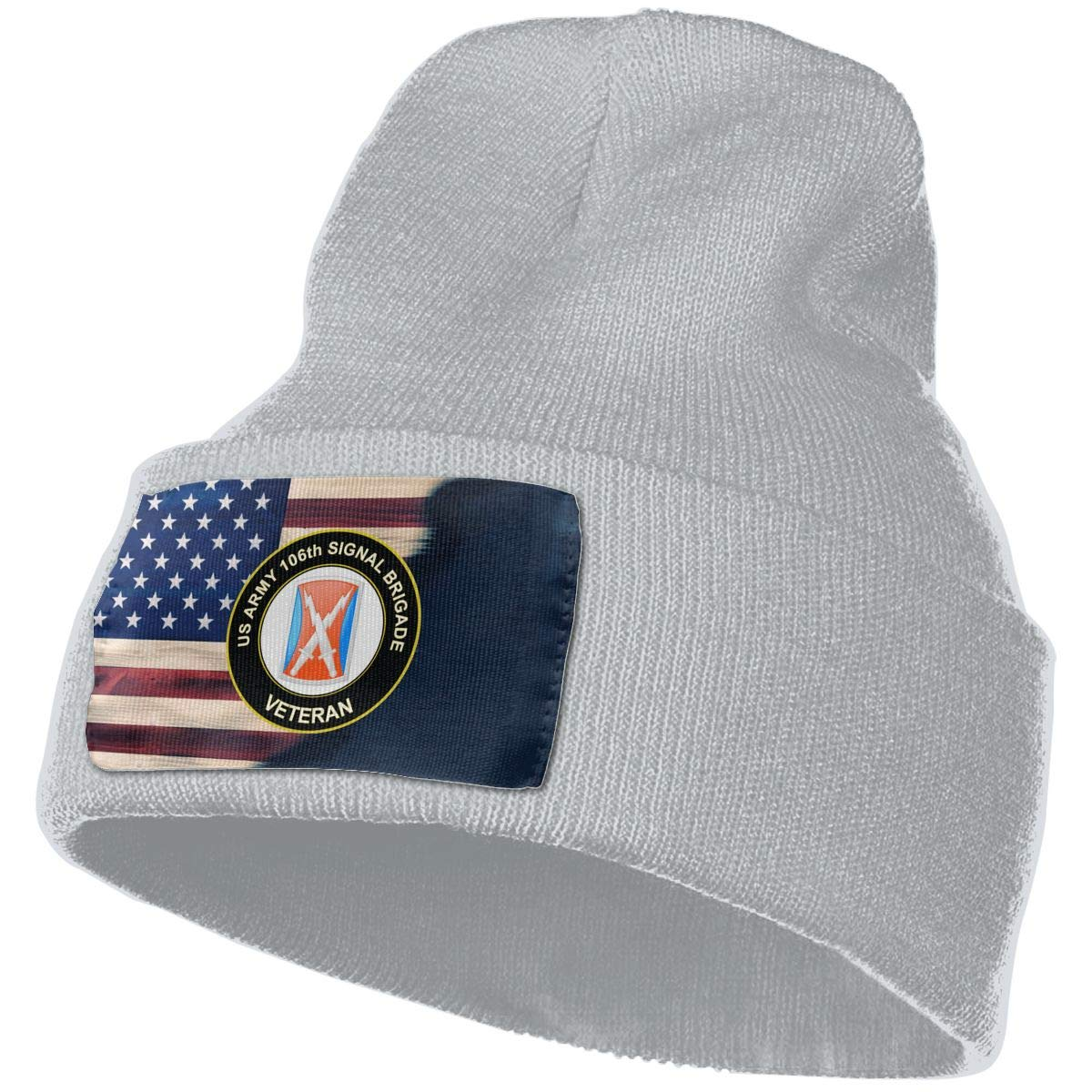 US Army 106th Signal Brigade Veteran Mens Beanie Cap Skull Cap Winter Warm Knitting Hats.