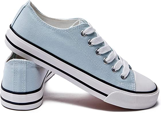 Womens Canvas Sneakers Low Top Lace Up