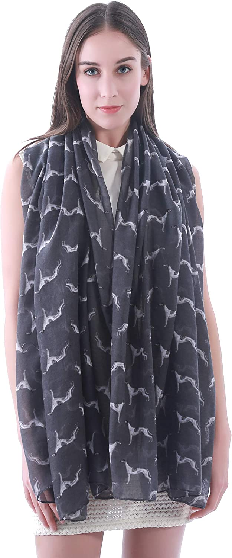 Dog Scarf Bulldog Shepherd Collie Labrador Chiffon Wrap UK Gift Paw Print Scarve