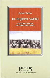 El sujeto vacio / Empty Subject (Fronesis) (Spanish Edition)