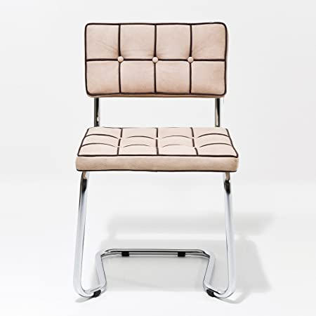 EXPO Faux Suede CANTILEVER CHAIR for Lounge   Office   Kitchen quilted  design from XTRADEFACTORY ivory  Amazon.co.uk  Kitchen   Home d5912b889ffb3