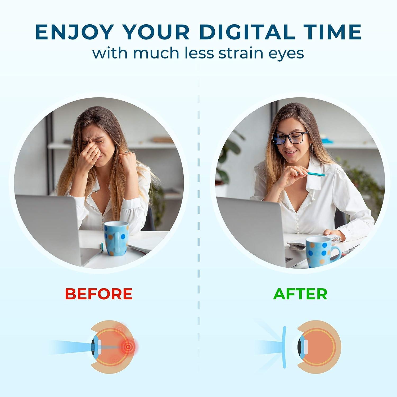 Balck Square Nerd Eyeglasses Frame Transparent UV Lenses for Reading TV Phones Blue Light Blocking Glasses for Women Men Anti Blue Ray Computer Gaming Glasses