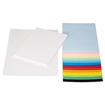 IKEA Malpapier Bastelpapier MALA A3 und A4 weiß und bunt: Amazon.de ...