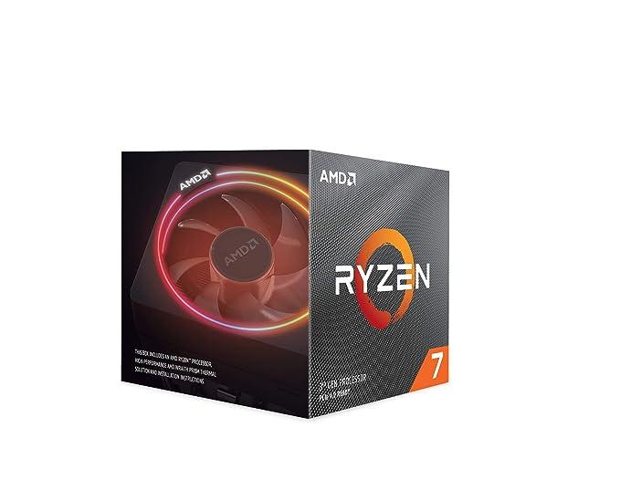 AMD Ryzen 7 3800X - Procesador con disipador de calor Wraith Prism (32 MB, 8 núcleos, velocidad de 4.5 GHz, 105 W)