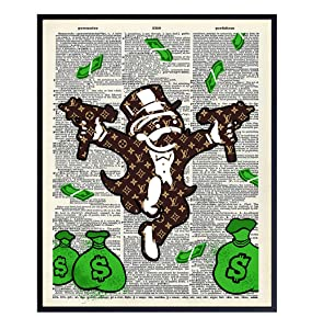 Fashion Urban Street Art Graffiti Wall Art Print – Cool Upcycled Dictionary Art Poster for Home Decor - Room Decorations for Dorm, Office, Teens Bedroom – Cool Unique Gift - 8x10 Unframed Photo