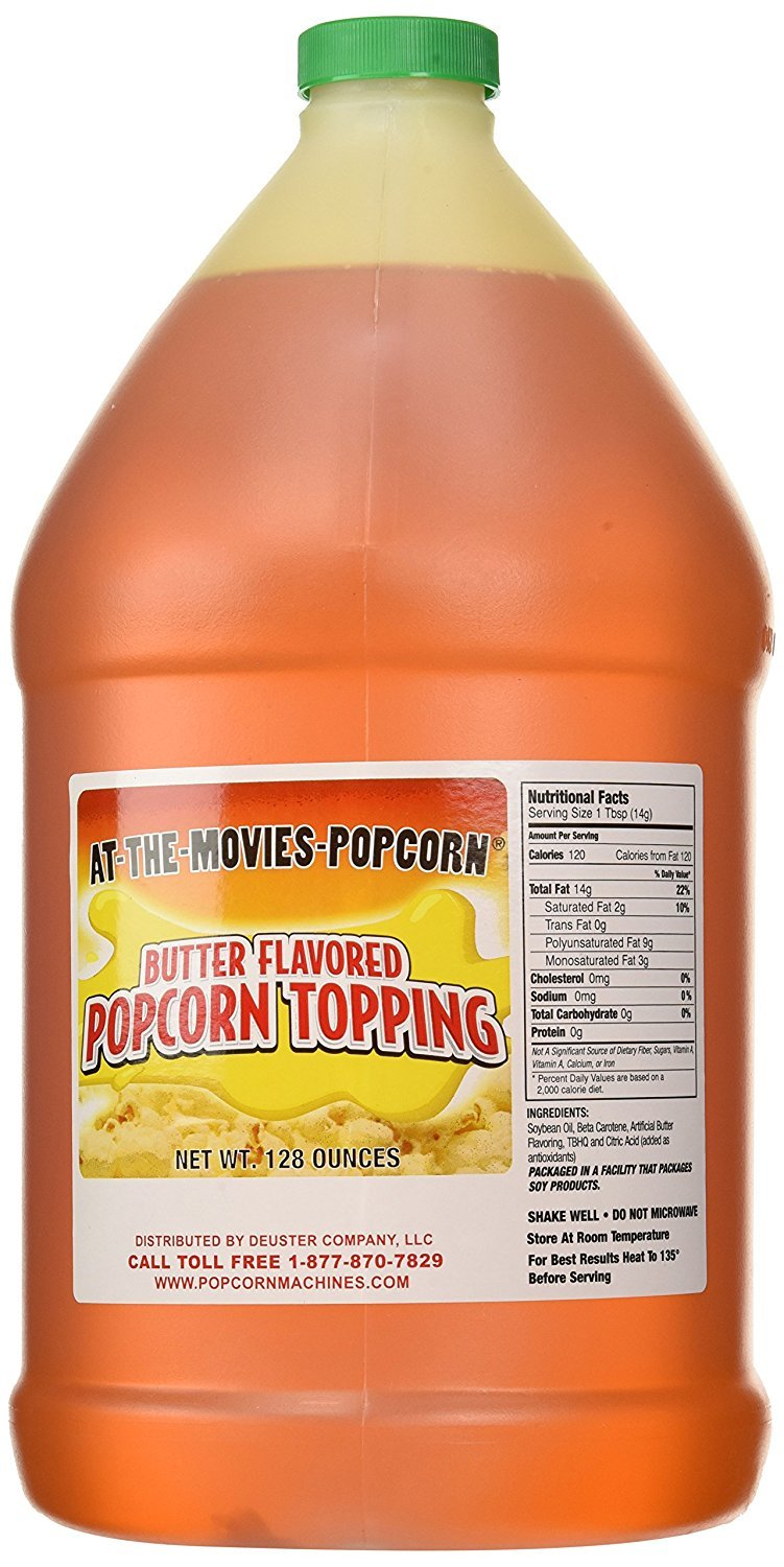 Buttery Flavor Popcorn Topping (Gallon w/Pump) by At-The-Movies-Popcorn (Image #2)