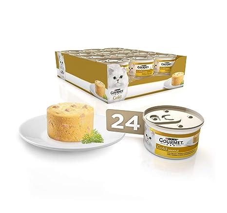 Purina Gourmet Gold Soufflé comida para gatos con Pollo 24 x 85 g