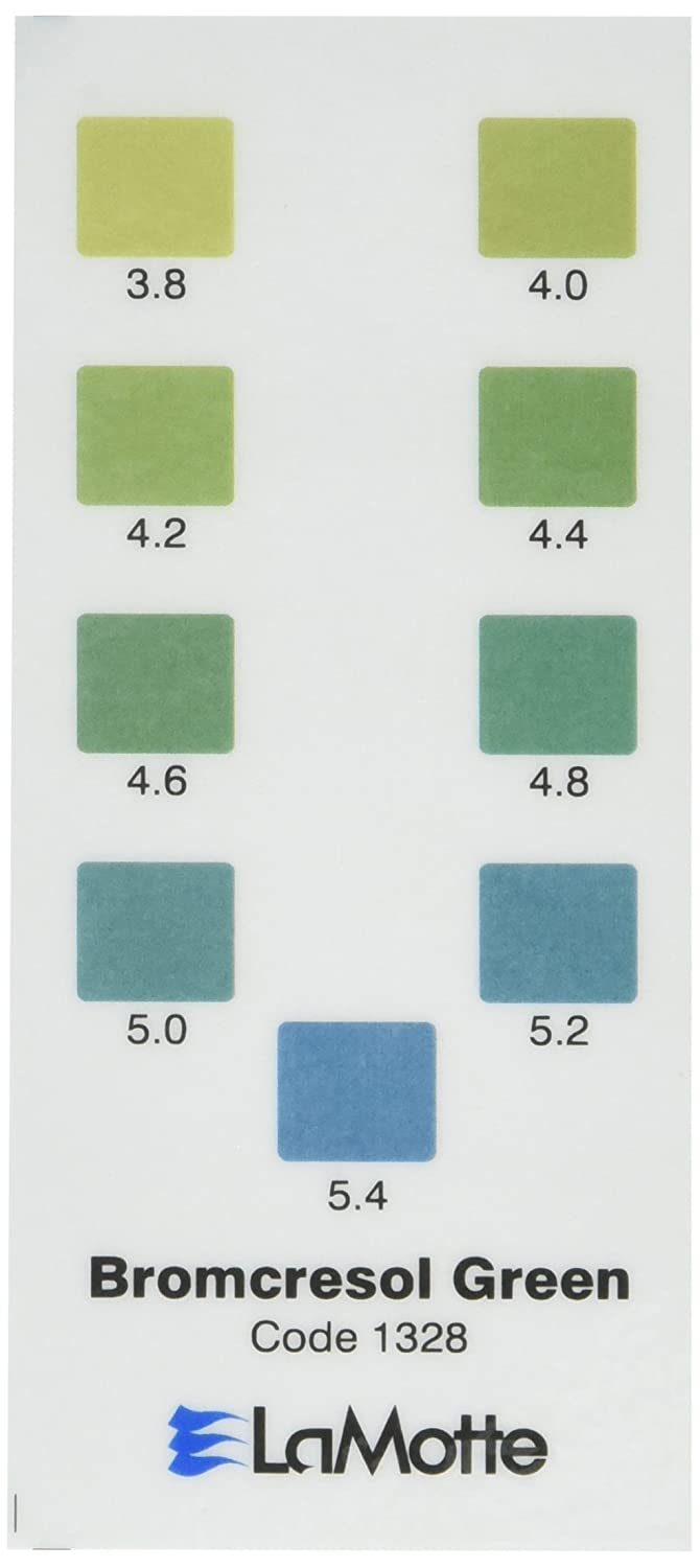 Lamotte 1328 Soil Ph Test Kit Color Chart Bromcresol Green Ph Test
