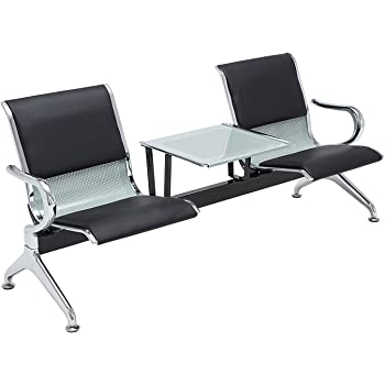 Amazon Com Sliverylake 2 Seat Bench Salon Barber Bank