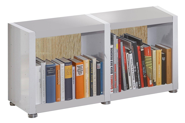 Bücherregal Raumteiler Ready 12r In Alpineweiß Mit Rückwand In