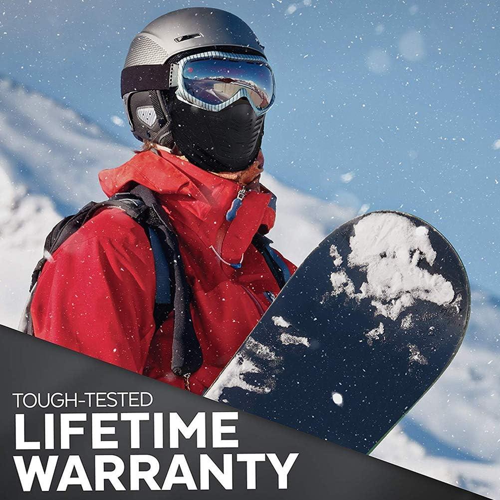 motociclismo e sport invernali//Massima protezione dagli elementi LAOZI Maschera da sci snowboard Maschera facciale passamontagna unisex freddo inverno//pile Attrezzatura da neve per sci