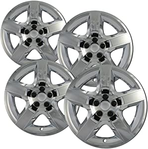 OxGord Hubcaps for 17 Inch Wheels (Pack of 4) Wheel Covers - Chrome