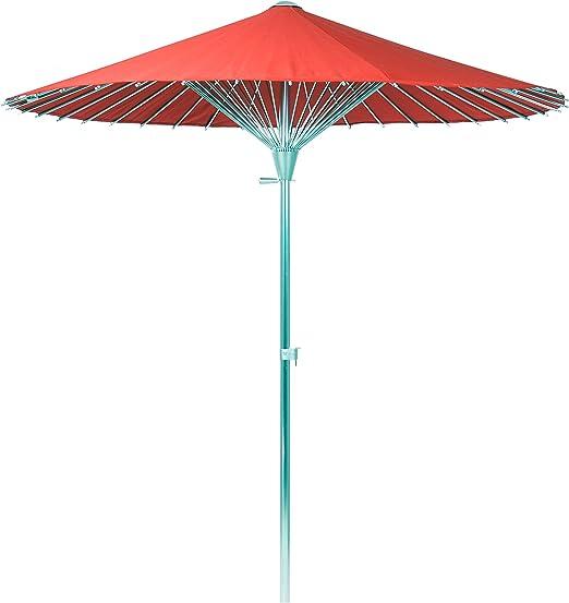 Parasol Sombrilla Jardin / Terraza / Patio | Rojo | Ø 200 cm | Redondo | SORARA - CHINA | Sunbrella (UV 50+): Amazon.es: Jardín