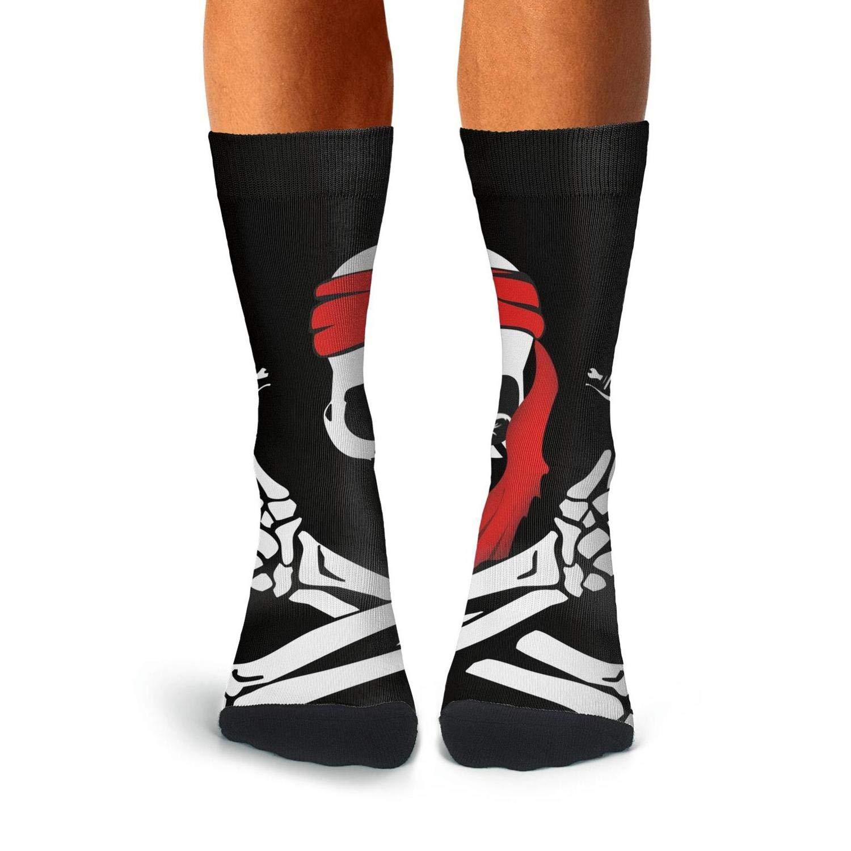 Knee High Long Stockings KCOSSH Pirate Skull Novelty Calf Socks Cool Crew Sock For Mens