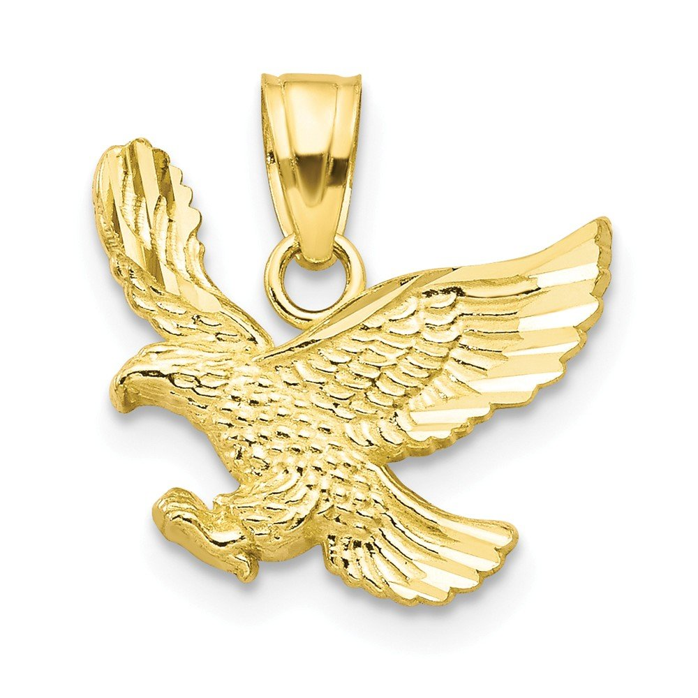 Mia Diamonds 10k Solid Yellow Gold Eagle Charm 15mm x 15mm