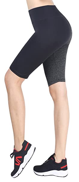 Sugar Pocket Womens Knee Tights Yoga Pants Running Leggings