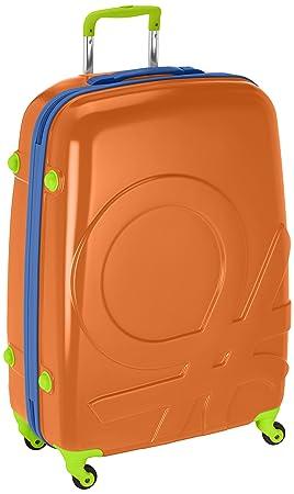 Benetton Maleta Con Ruedas SHAK3_58273333_ANARANJADO-COMBO 12 L: Amazon.es: Equipaje