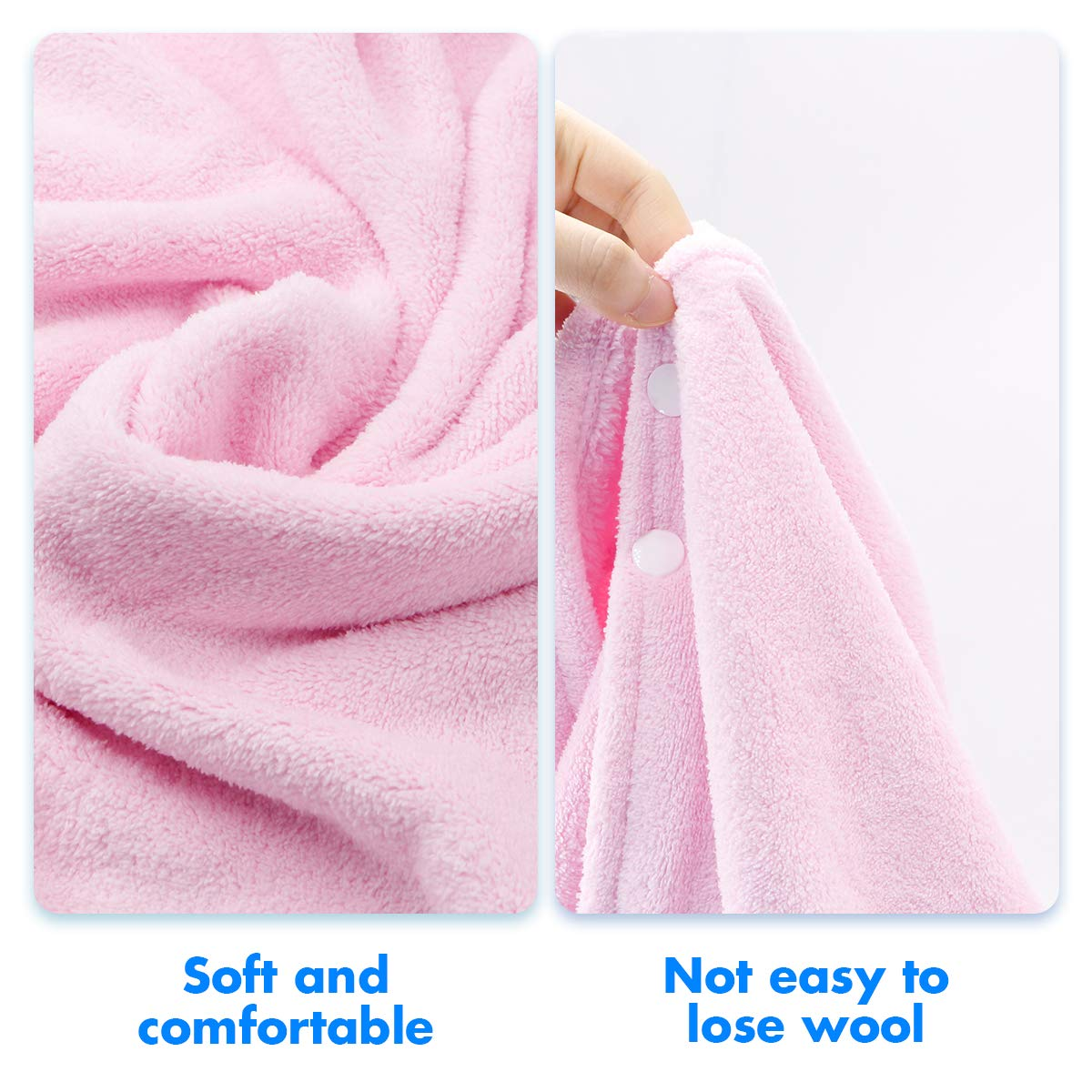 RioRand Kids Bath Towels,Premium Hooded Towel for Toddler Highly Absorbent Coral Fleece Bathrobe for Boys Girls-27.5\