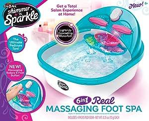 Cra-Z-Art Shimmer 'n Sparkle 6 n 1 Real Massaging Foot Spa, Blue