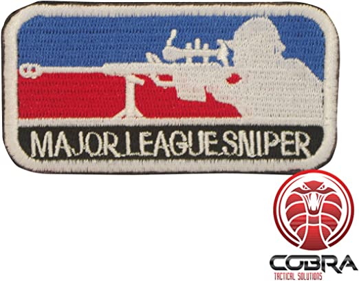 Cobra Tactical Solutions Major League Sniper Patch Parche Bordado Táctico Moral Militar con Cinta adherente de Airsoft Paintball para Ropa de Mochila táctica: Amazon.es: Hogar