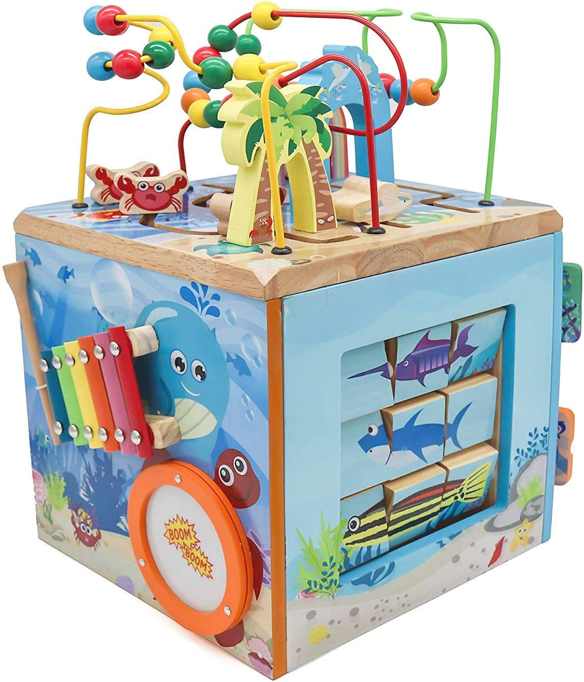 Under The Sea Adventures Perfect For Kids Deluxe Activity Wooden Maze Cube