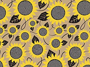 "Sunflower Fields Gift Wrap Paper Flat Sheet - 24"" x 6'"
