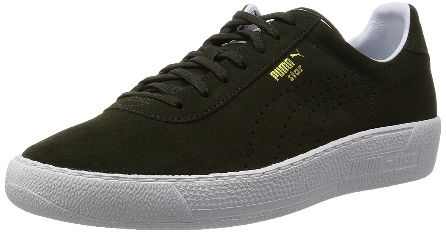 Puma Star Allover Suede Leather Sneaker Men Trainers green 359393 02, shoe size:EUR 40.5