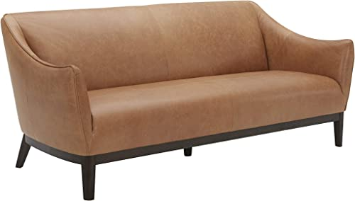 Amazon Brand Rivet Bayard Contemporary Leather Sofa Couch