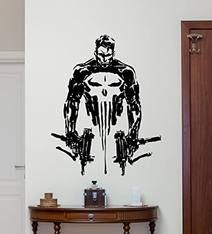 Merveilleux CarolGreyDecals Punisher Wall Vinyl Decal Marvel Superhero Wall Sticker  Video Game Gaming Wall Decor Cool Wall