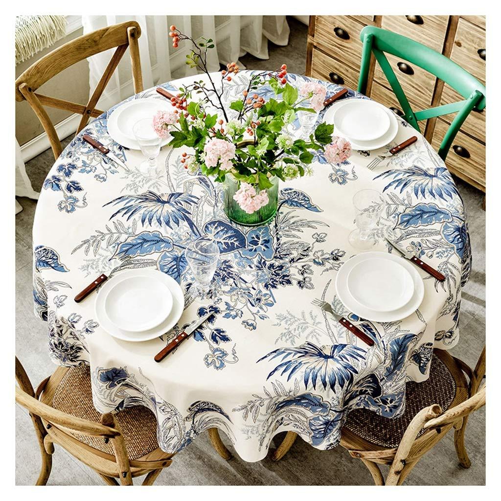 Qiao jin &Tischdecke Runde Tischdecke - Baumwolle Leinen Quaste staubdicht Tisch Decken Küche Tischplatte dekorative Tischdecke Tischdecken (Farbe   C, größe   Round-160cm) B Round-130cm
