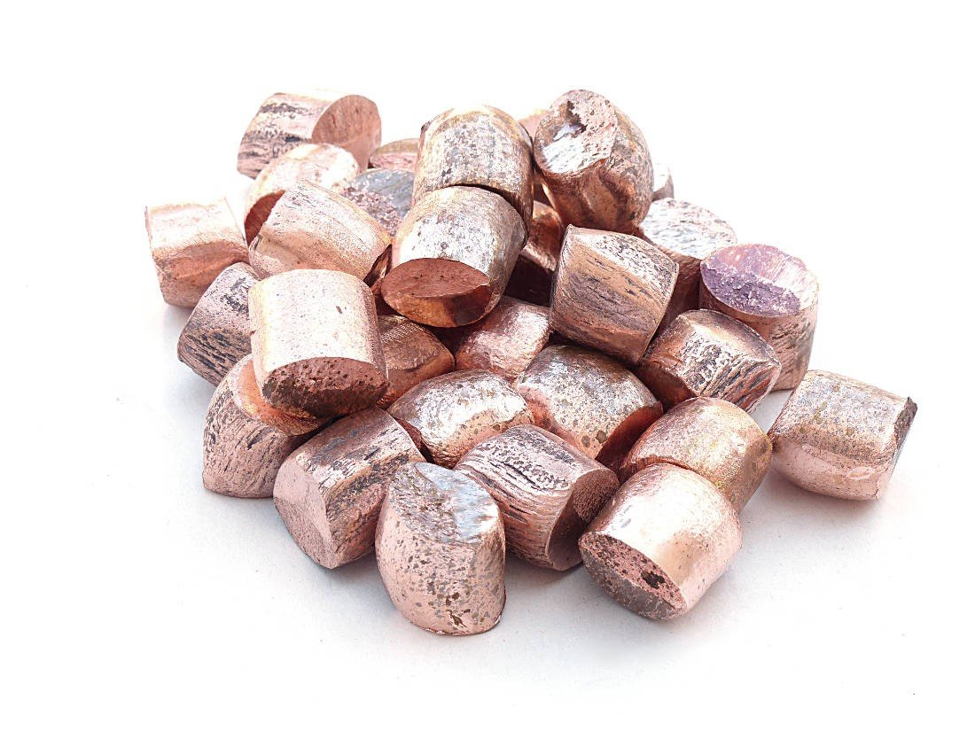 Copper Nugget (2 pounds | 99.9+% Pure) Raw Copper Metal by MS MetalShipper