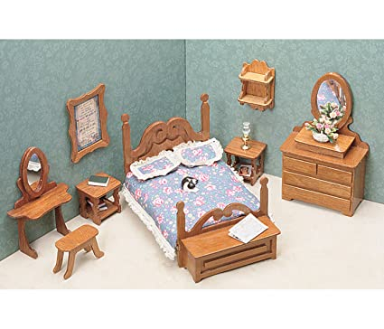picture of Greenleaf Dollhouse Furniture Kit for Bedroom