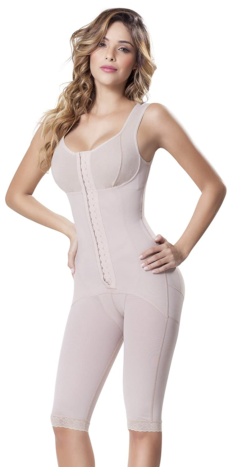 Beige Fajitex Fajas Colombianas Reductoras y Moldeadoras High Compression Garments After Liposuction Full Bodysuit 023750