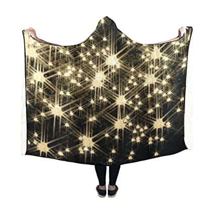 jnseff hooded blanket lights mask layer christmas blanket 60x50 inch comfotable hooded throw wrap