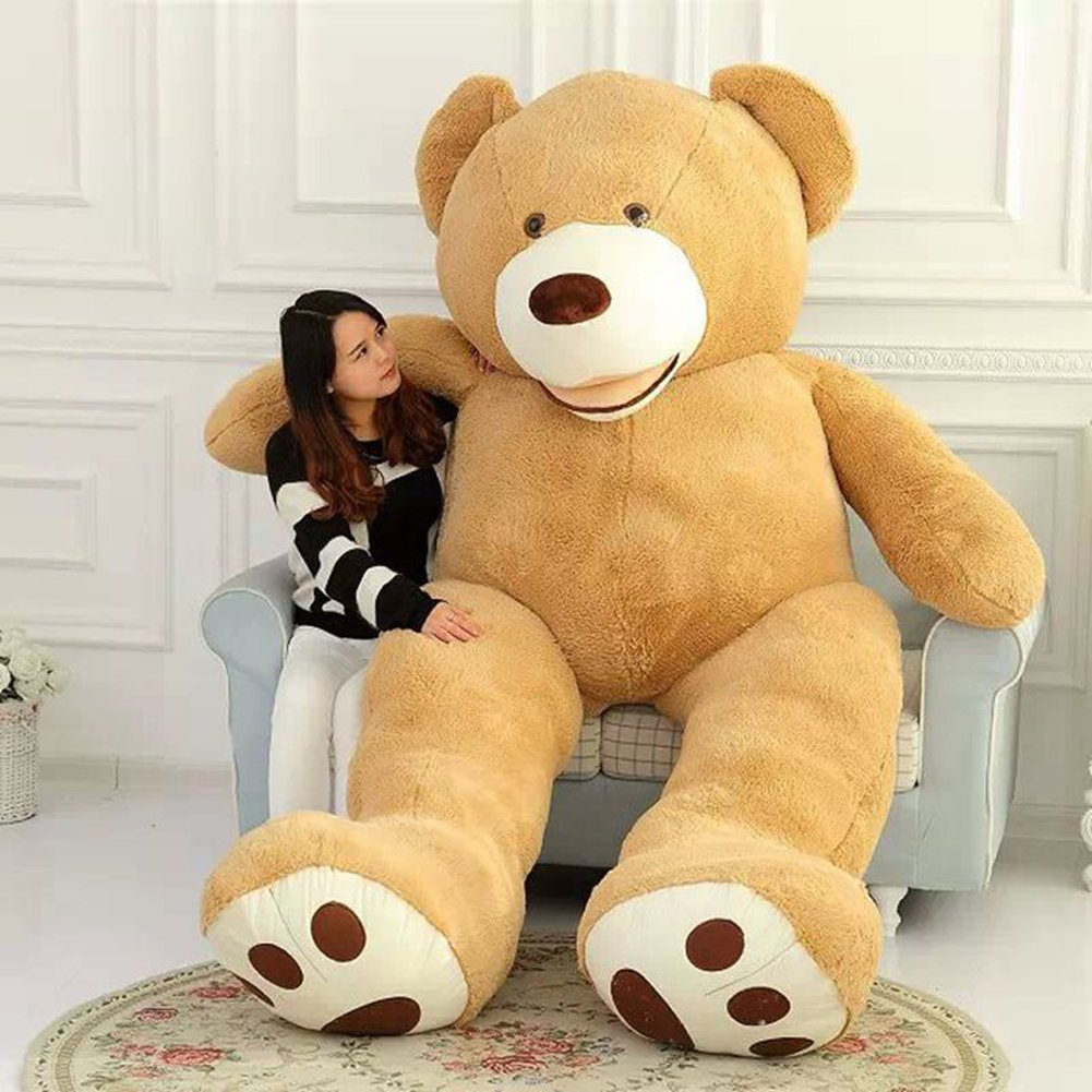 amazoncom vercart 85 foot 102 light brown giant teddy bear stuffed animal plush toys gift for kids friends toys games - Giant Teddy Bears For Valentines Day