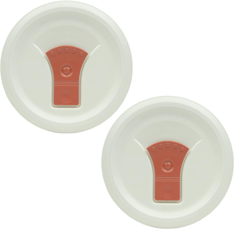 CorningWare FM-22-VPC 20oz Red Clay Round Soup Mug Pop-Ins Vented Lid - 2 Pack