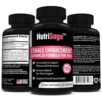 NutriSage Libido Enhancer For Women – Advanced Female Enhancement Formula With Horny Goat Weed – Most