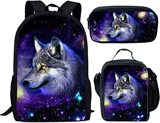 Fashion Galaxy Printed Lunch Bag Children Pencil Case Back to School Backpack Set Kids