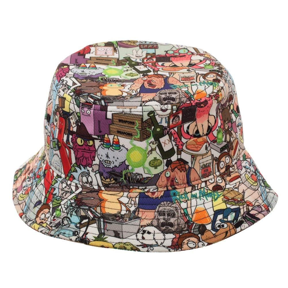 2e264615c9e8 Amazon.com: Rick and Morty Show Characters Bucket Hat: Clothing