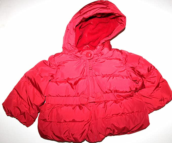 33879f7f0 Amazon.com  Baby Gap Infant Toddler Girl s Red Hooded Puffer Jacket ...